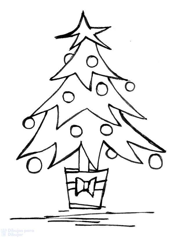 arbol de navidad dibujo facil
