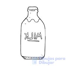 botella de leche dibujo