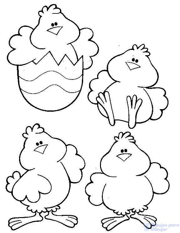como dibujar un pollito facil