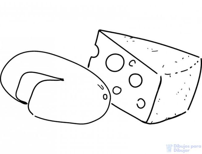 como dibujar un queso
