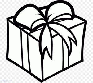 como dibujar una caja de regalo