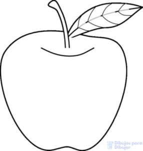 como dibujar una manzana paso a paso