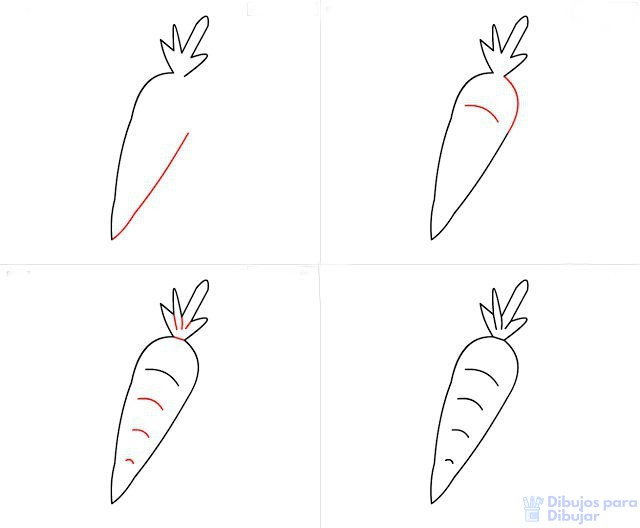 Áˆ Dibujos De Zanahorias Top Free Exquisita Plantilla Aprende con este dibujo de zanahoria paso a paso. zanahorias top free exquisita plantilla
