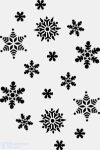 copos de nieve para decorar
