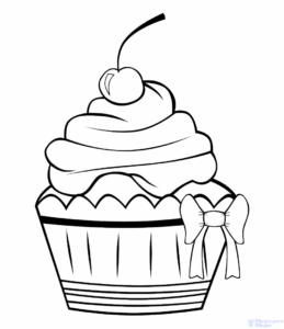 cupcakes para dibujar