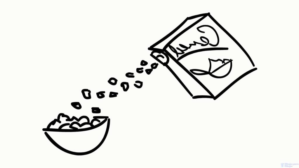 dibujar comida