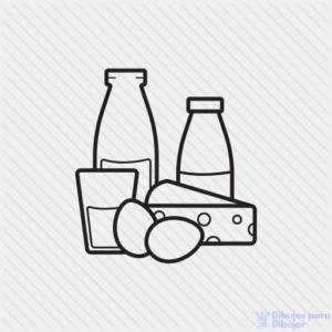 dibujo botella de leche