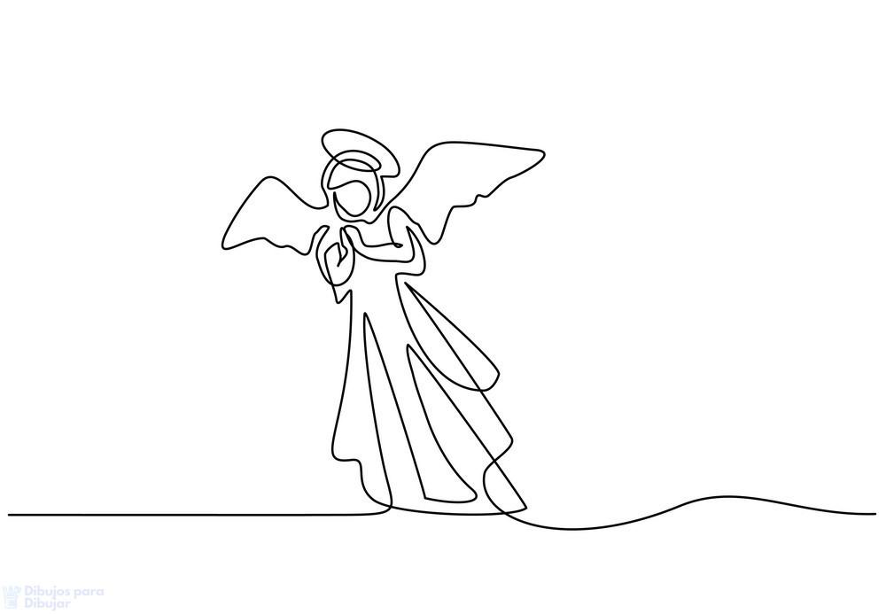 dibujo de angel