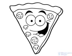 dibujo de pizza para colorear