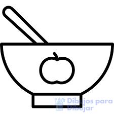 dibujo del plato del buen comer para niños