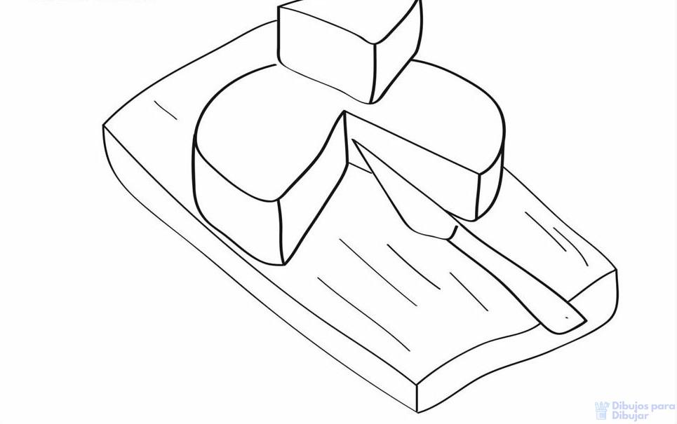 dibujo del queso