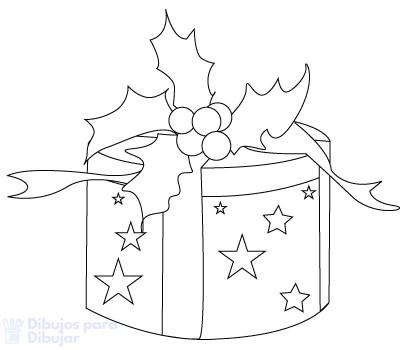 dibujo regalos navidad