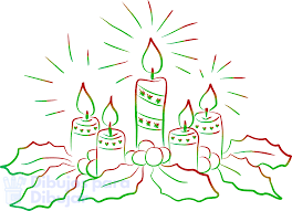 dibujo vela encendida