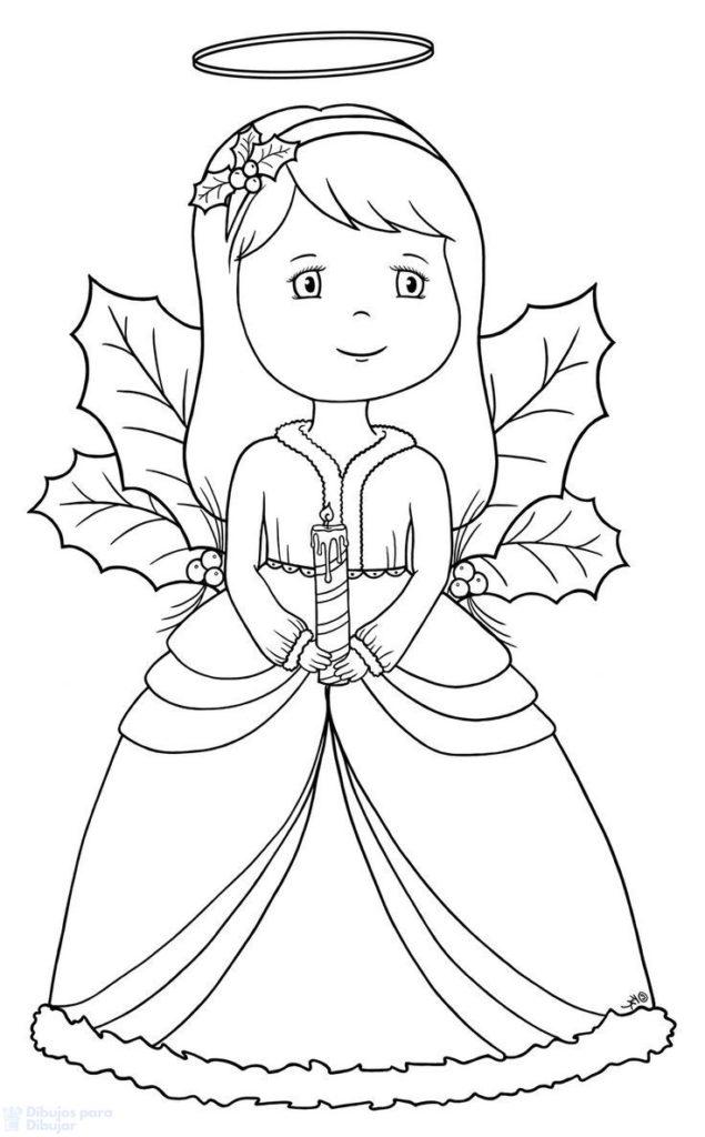 dibujos de angeles faciles scaled
