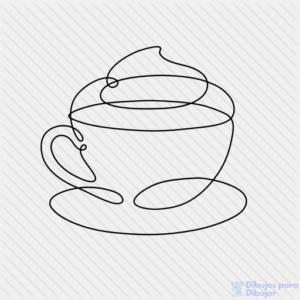 dibujos de cafe para colorear