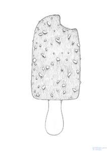 dibujos de helados para colorear