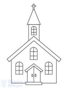 dibujos de iglesias catolicas