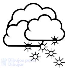 dibujos de nieve para niños