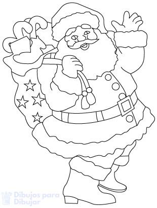 dibujos de papa noel para colorear