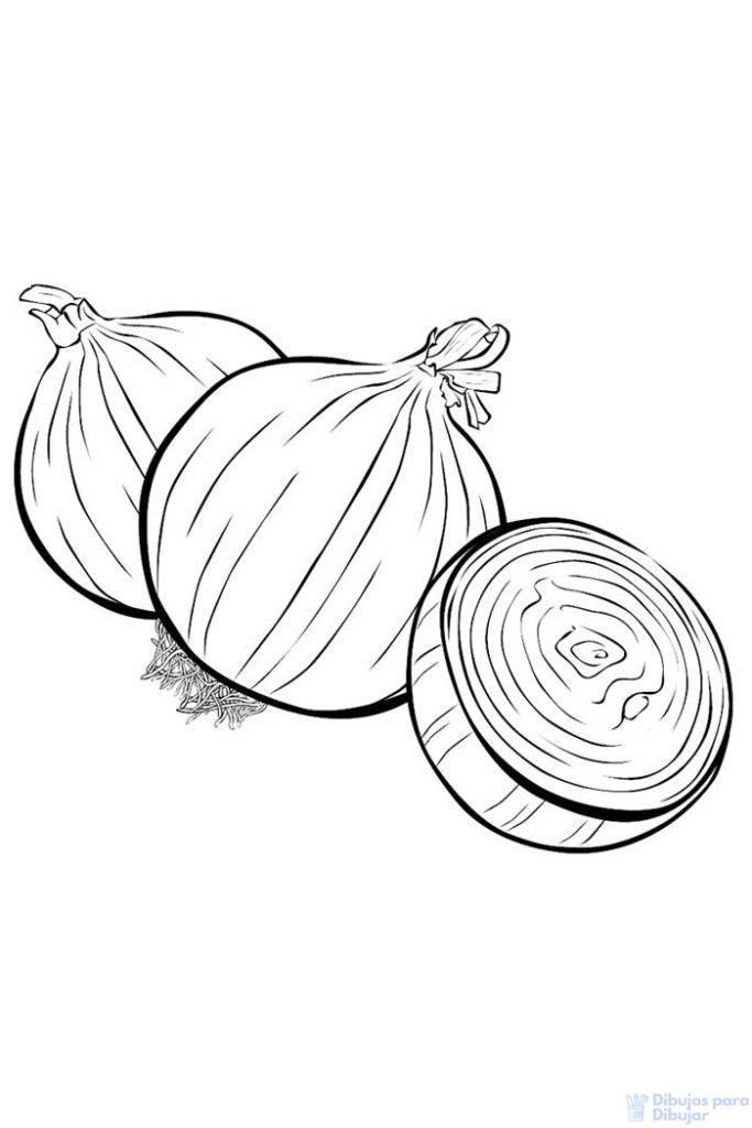 dibujos de verduras para niños