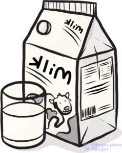 dibujos para colorear de la leche