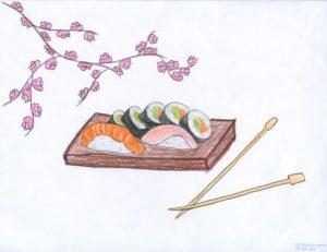 fotos de sushi japones