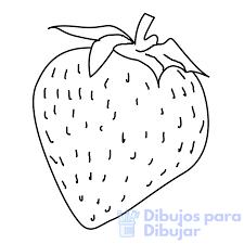 fresas para dibujar