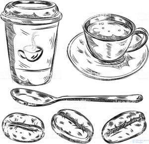 grano de cafe dibujo