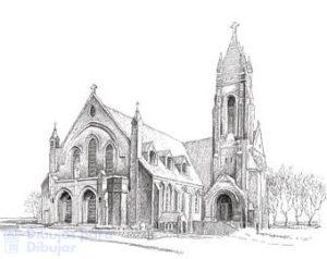 iglesia catolica dibujo