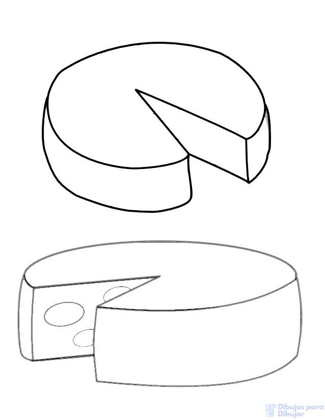 imagen de queso para colorear
