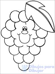 imagen de una uva para colorear