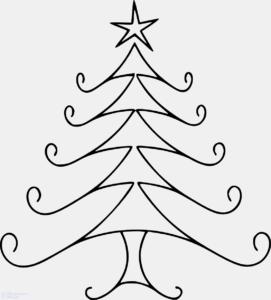 imagenes de arbol de navidad para colorear