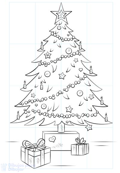 imagenes de arboles de navidad para imprimir