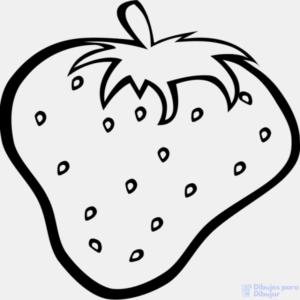 imagenes de fresas para dibujar