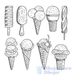 imagenes de helados para colorear