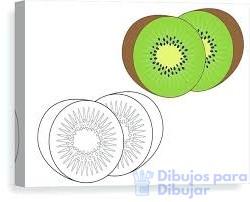 kiwi para colorear