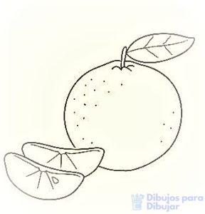 mandarina dibujo para colorear