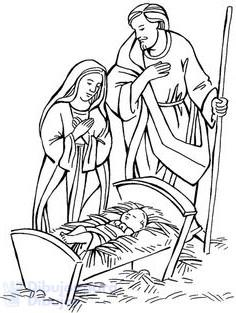 nacimiento de jesus para dibujar