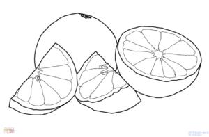 naranja de dibujo