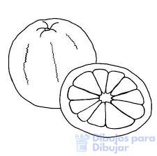 naranja para colorear infantil