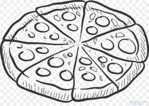 pizza para colorear