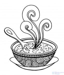 plato de sopa dibujo