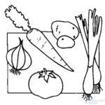 verduras para colorear