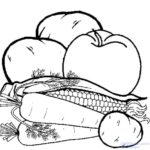 verduras para pintar