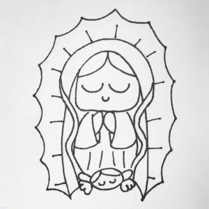 virgen de guadalupe drawing scaled