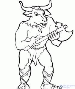 como dibujar a un minotauro
