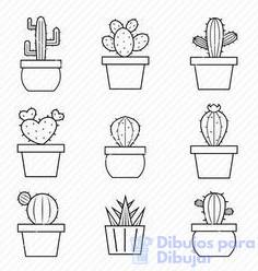 como hacer cactus para colorear e imprimir