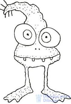 dibujos animados de monstruos