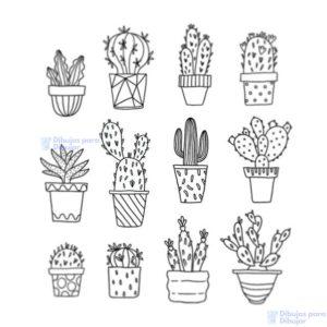 dibujos cactus para imprimir