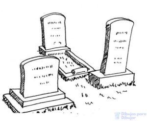 dibujos de cementerios para colorear